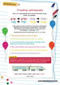 Y3 spelling: split diagraphs worksheet