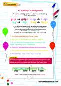 Y3 spelling: split digraphs worksheet