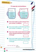 Y4 capacity word problems worksheet