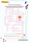Y4 criss-cross word puzzle