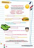 Y4 spelling sentences worksheet