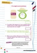Y4 weight word problems worksheet