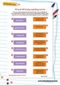 Y5 and Y6 tricky spelling words worksheet