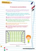 Y5 measures word problems football worksheet