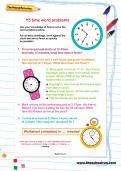 Y5 time word problems worksheet