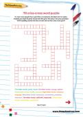 Y6 criss-cross word puzzle