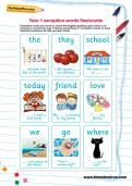 Year 1 exception words flashcards