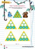 Year 1 number pyramids: 1