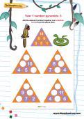 Year 1 number pyramids: 3