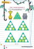 Year 1 number pyramids: 4