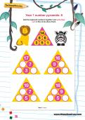 Year 1 number pyramids: 6
