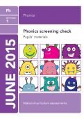 Y1 phonics screening check 2015 past paper