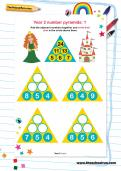 Year 2 number pyramids: 1