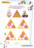 Year 2 number pyramids: 6
