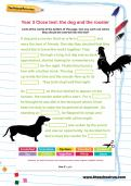 Year 3 Cloze test: the dog and the rooster