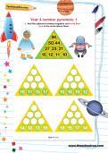 Year 4 number pyramids: 1