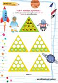 Year 4 number pyramids: 1