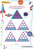 Year 4 number pyramids: 2