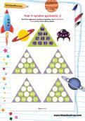 Year 4 number pyramids: 3