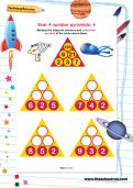 Year 4 number pyramids: 4
