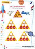 Year 4 number pyramids: 4