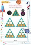 Year 4 number pyramids: 5