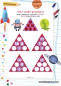 Year 4 number pyramids: 6