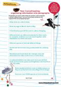 Year 4 proofreading: organising information into paragraphs