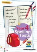 Year 4 spelling tests pack