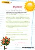 Year 5 Cloze test: the garden party