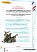 Year 5 Cloze test: the ship in the storm