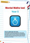 Year 5 mental maths test