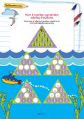 Year 5 number pyramids: adding fractions