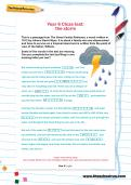 Year 6 Cloze test: the storm