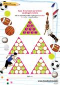 Year 6 number pyramids: adding decimals