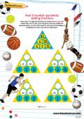 Year 6 number pyramids: adding fractions