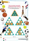 Year 6 number pyramids: multiplying large numbers