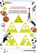 Year 6 number pyramids: multiplying Roman numerals