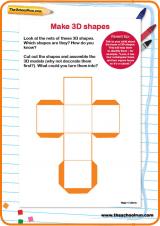 Nets Of 3d Shapes Ks2 Worksheets