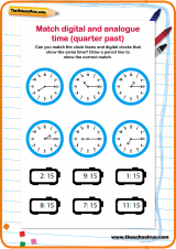 ... to the hour. Help them practise with this simple matching worksheet