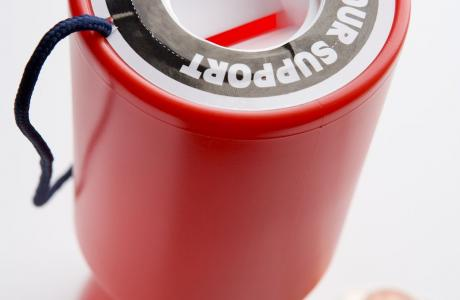 Charity collection box
