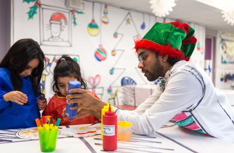Ready, Steady Colour Christmas Feast at Discover Children's Story Centre