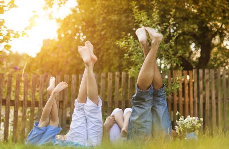 Happy family summer holiday