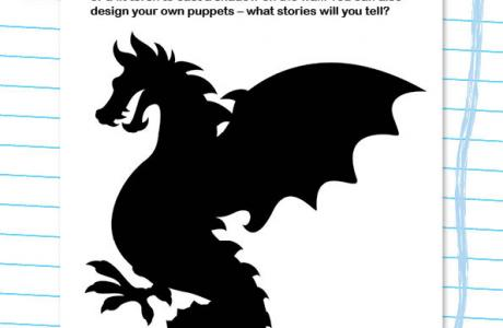 Shadow puppet theatre activity