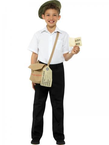WWII evacuee boy costume