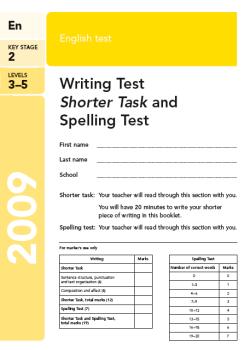 KS2 English SATs 2009