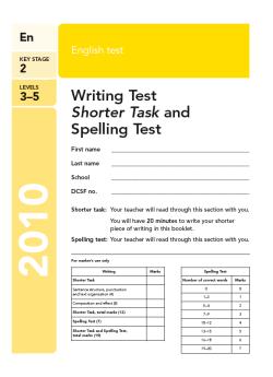 KS2 English SATs 2010