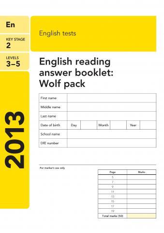 KS2 English SATs 2013