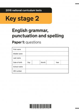 KS2 English SATs 2016