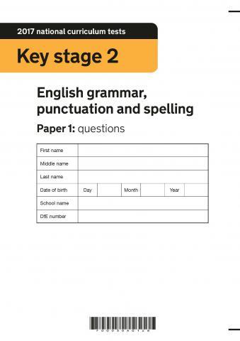 KS2 English SATs 2017